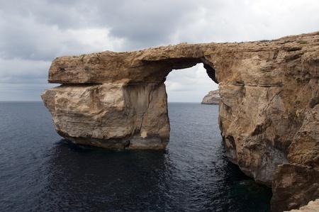the azure rock window on Gozo near Malta photo
