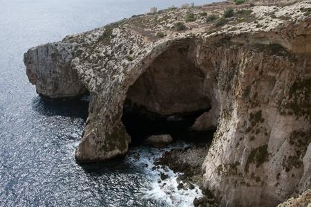 blue grotto on malta photo