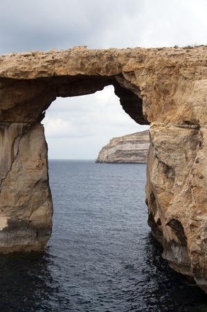 Azure rock on Gozo, island of Malta photo