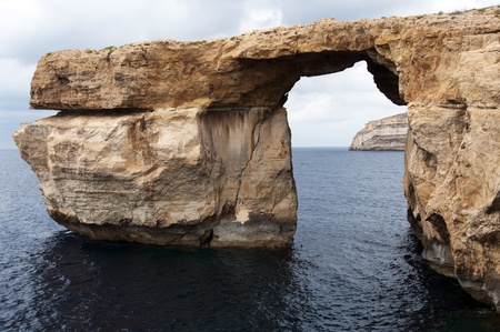 azure rock on gozo island of  Malta photo