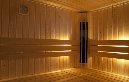 infra red and finisch combined sauna with hygrometer