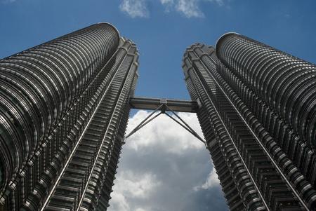 kuala lumpur petronas towers and blue sky