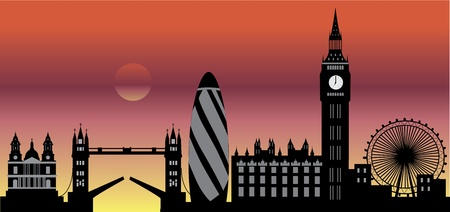 London skyline by night Stock Vector - 11158016