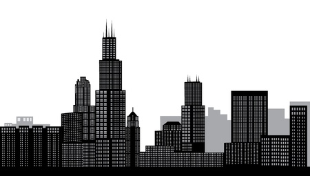 sears: chicago skyline Illustration