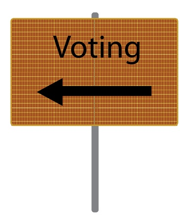 voting sign Vector