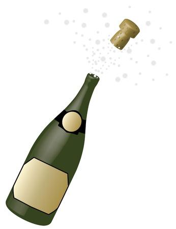 biased: bottiglia di champagne