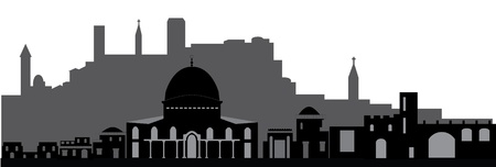 Jerusalem night Vector