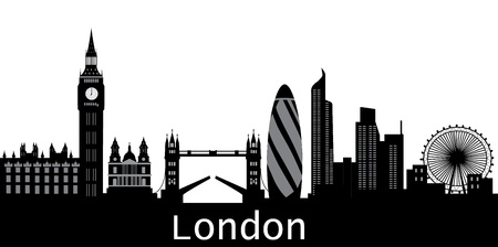 london skyline with text city Vector