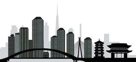 tokyo skyline Ilustração
