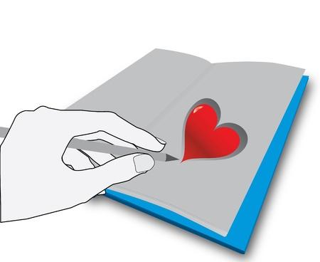 놀라운: 하트를 그리는 손 일러스트