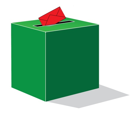 local elections: green voting box