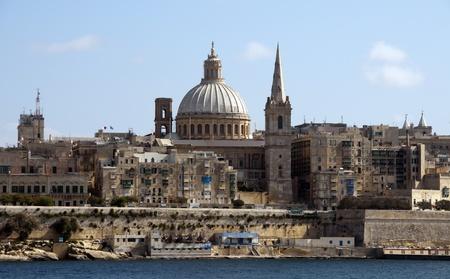 Skyline of the Malta city Valetta photo