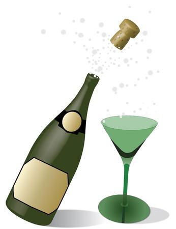biased: champagne con gli occhiali Vettoriali
