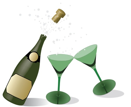 biased: champagne with glasses