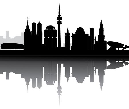 m�nchen: münchen skyline