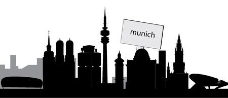munich skyline Vector