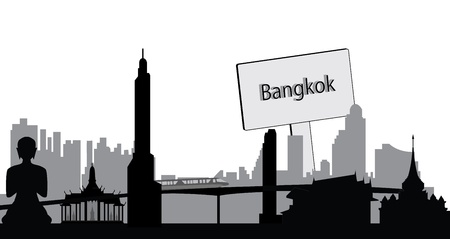 Bangkok skyline Stock Vector - 11616802