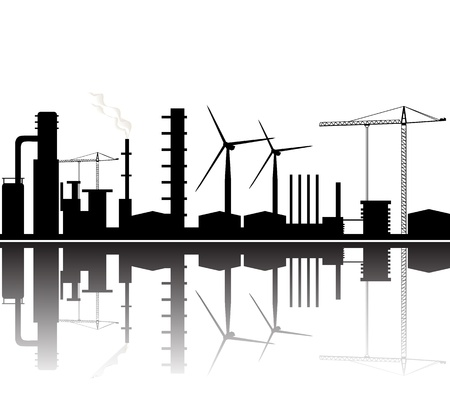 refinery background Vector