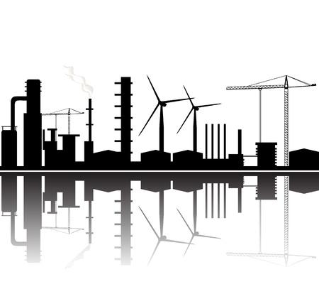 tło rafineria Ilustracje wektorowe