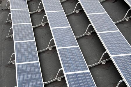 sun panels to collect green energy Stock Photo - 11864918