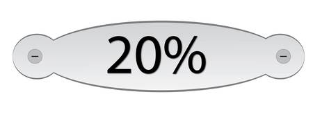 door plate: door plate with text discount 20% Illustration