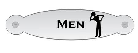 door plate: door plate with text men