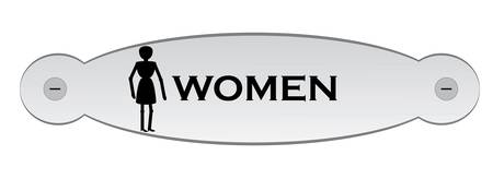 door plate: door plate with text woman