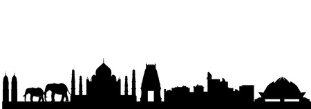 monument in india: India skyline Illustration