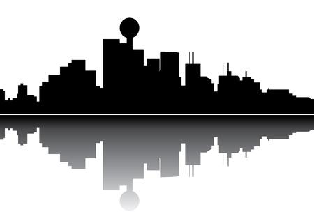 Dalas skyline Vector