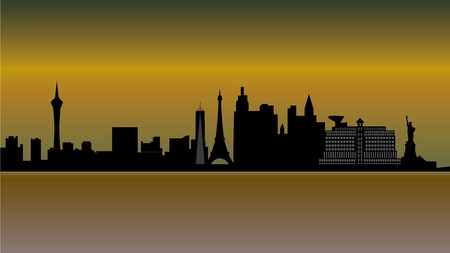 las vegas skyline Stock Vector - 12018182