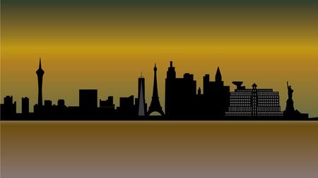 vegas strip: las vegas skyline