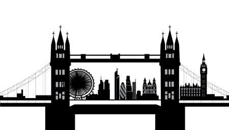 london bridge skyline Vector
