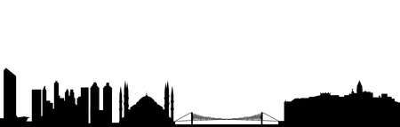 Istanbul turkey skyline Illustration