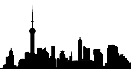 shanghai skyline Stock Vector - 12273604