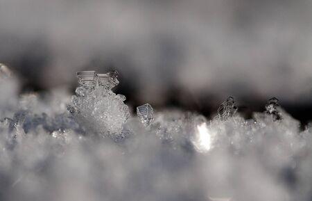Sneeuw kristallen macro Stockfoto - 12273619