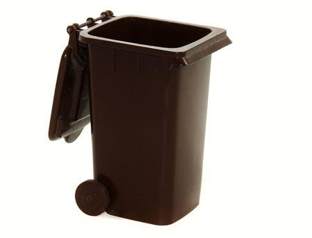 brown dirt container for garbage photo