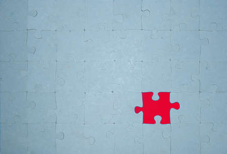 the missing red part of the puzzle photo