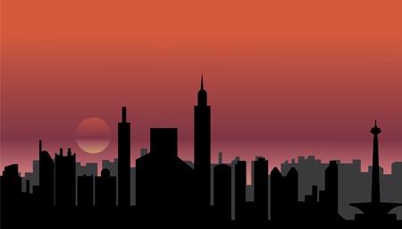 jakarta: jakarta skyline Illustration