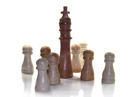 the king as leader in chess play Stock Photo - 13078053