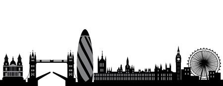 ロンドンのスカイライン  イラスト・ベクター素材