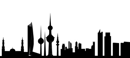 kuwait skyline Stock Vector - 13162393