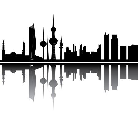 kuwait skyline Vectores