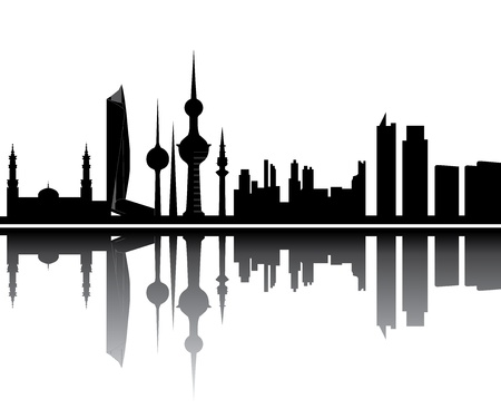 kuwait skyline Stock Vector - 13162398