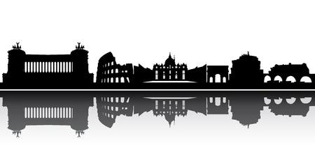 coliseum: rome skyline