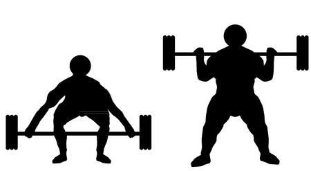 lifter: weight lifter sport man Illustration