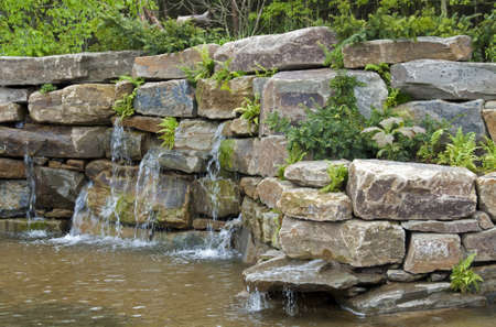 waterfall on the floriade the  World Horticultural Expo in Venlo the Netherlands  photo