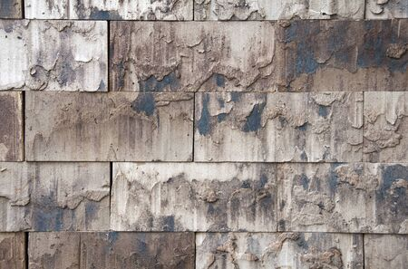 wall from modern eco stones recycling material photo
