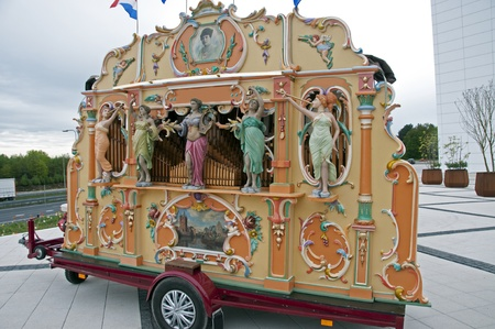 typical dutch street organ for public music Stock Photo - 13714411