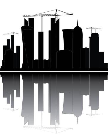 qatar: qatar skyline