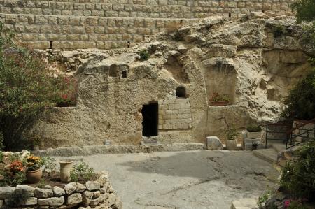tumbas: lugar de la resurrecci�n de Jesucristo en Jerusal�n, Israel Foto de archivo